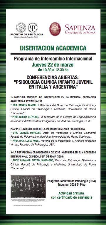 Psicologia clinica infantile in Italia e Argentina